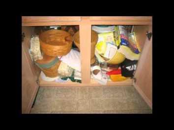 messy under cabinet